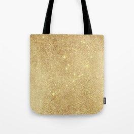 Elegant stylish faux gold glitter Tote Bag