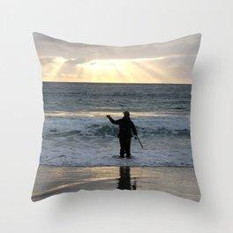 Carmel Fisherman Throw Pillow