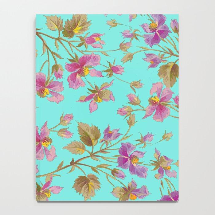 beach roses mint Notebook