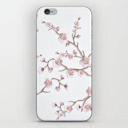 SAKURA LOVE - GRUNGE WHITE iPhone Skin