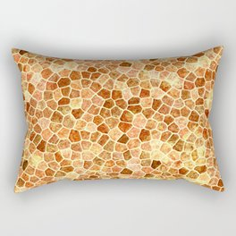 Faux Giraffe Skin Abstract Pattern Rectangular Pillow