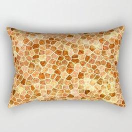 Faux Giraffe Skin Abstract Pattern Rectangular Pillow