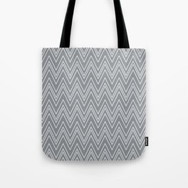 Gray Skinny Chevron Tote Bag