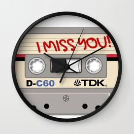 Vintage Audio Tape - TDK - I Miss You! Wall Clock