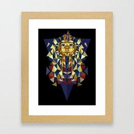 Golden Tutankhamun - Pharaoh's Mask Framed Art Print