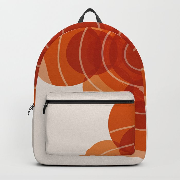 Earthy Red Scandinavian Floral Design Backpack