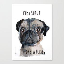 Demanding Doggie Canvas Print