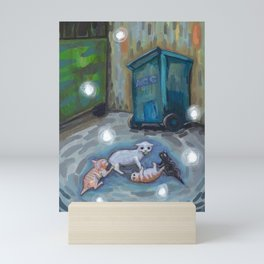 Back alley shenanigans Mini Art Print