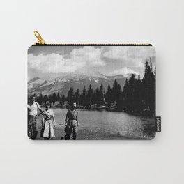 Golfers walking by the lake at Jasper / Golfeurs marchant non loin du lac à Jasper Carry-All Pouch