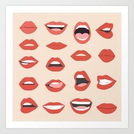 Lips III Art Print