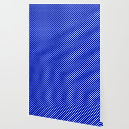 White Stars on Cobalt Blue Wallpaper