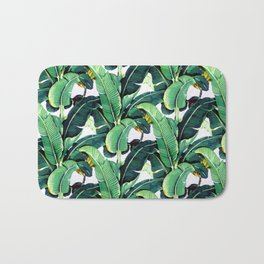 Tropical Banana leaves pattern Bath Mat