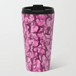 Pink yoga camouflage Travel Mug