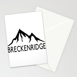 BRECKENRIDGE COLORADO SKIING SKI MOUNTAINS SNOWBOARD Stationery Cards