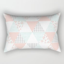 Quilt nursery cheater quilt minimal floral camping pattern modern color palette Rectangular Pillow