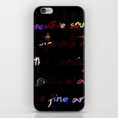 Glowing letters iPhone & iPod Skin