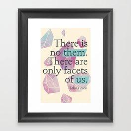 Facets of Us Framed Art Print