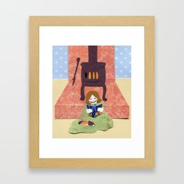Cozy by the Fire Framed Art Print