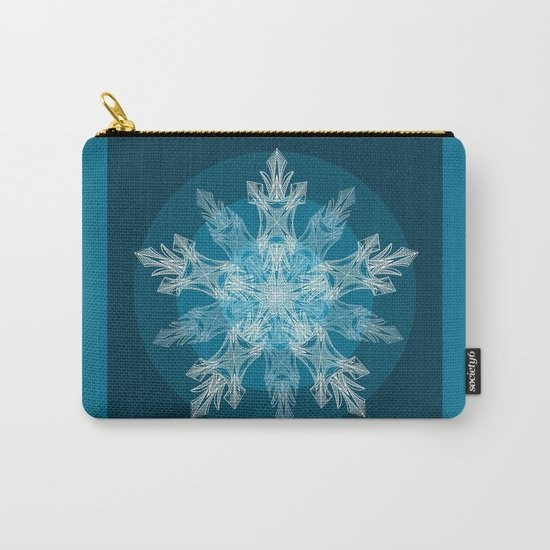 1 Blue Snowflake Carry-All Pouch