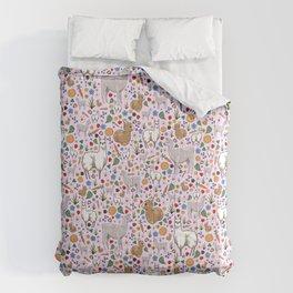 Pretty Llamas Comforters