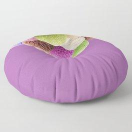 Ice Cream Interior Design Food Poster Minimal Art Print Lavender Home Decoration Floor Pillow