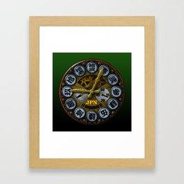 JPN clock Framed Art Print