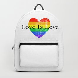 Love Is Love Rainbow Pride Heart 3 Backpack