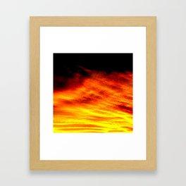 Black Yellow Red Sunset Framed Art Print