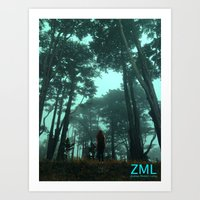 uncharted Art Prints featuring Uncharted by ZML Zealous Modern Living