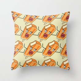 Orange Scream! Throw Pillow