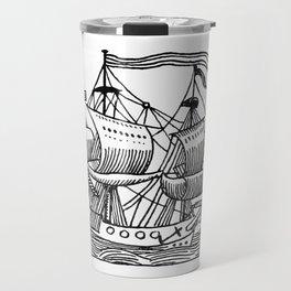 Ship Barco Bateau Schiff лодка Travel Mug