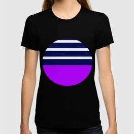 Summer Patio Perfect, Purple, White & Navy T-shirt