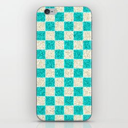 CHECKERED CYAN PATTERN - For IPhone - iPhone Skin