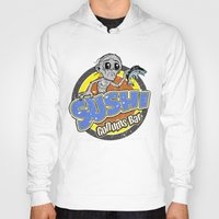 lotr Hoodies featuring LOTR - Gollums Sushi Bar by Immortalized
