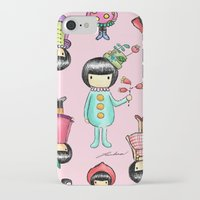 girly iPhone & iPod Cases featuring Girly by Ho Man Law