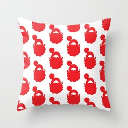 Santa Snuggles- red and white Throw Pillow