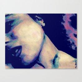 You're No Angel: Violet (sexy watercolor female portrait) Canvas Print