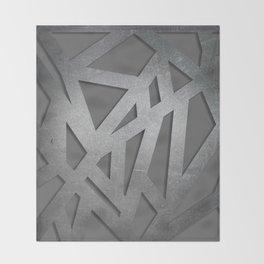 Metal Engraved Geometric pattern Throw Blanket