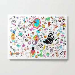 Pop Trippy (by ISCREAMCOLOUR & Julian Astudillo) Metal Print