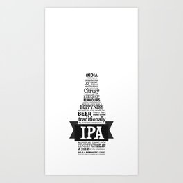 A beer is worth a thousand words - IPA Art Print