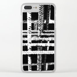Rebar And Brick - Industrial Abstract Clear iPhone Case