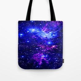 Fox Fur Nebula Galaxy blue purple Tote Bag