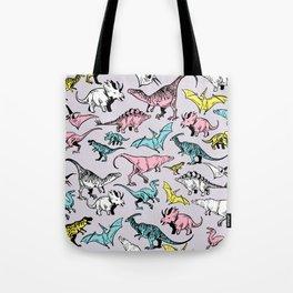 Pastel Dinosaurs Tote Bag