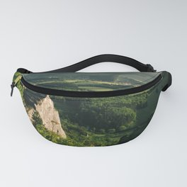 Person on the rock - Landscape and Nature Photography Art Print Art Print Fanny Pack