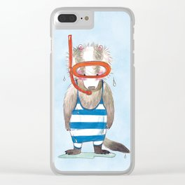 Badger Dietrich Clear iPhone Case