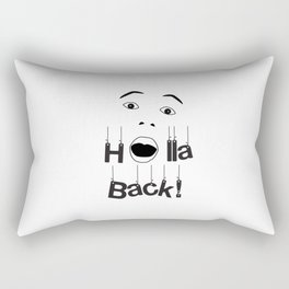 Holla Back - White Rectangular Pillow
