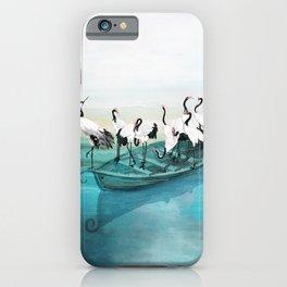 White Cranes iPhone Case