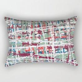 Crisscrossing Rectangular Pillow