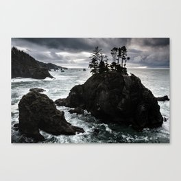 Stormy Weather Along Samuel H. Boardman Corridor Canvas Print