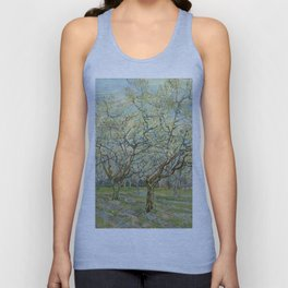 """Vincent van Gogh """"The White Orchard"""" Unisex Tank Top"""